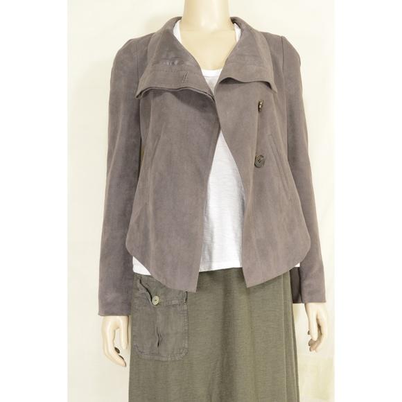 BCBGMaxAzria Jackets & Blazers - BCBGMAXAZRIA jacket SZ XS gray faux suede lined ch